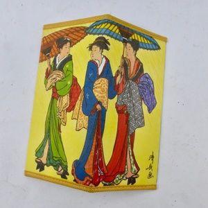 Handbags - Artistic Japanese Kimono Geisha Washi Paper Wallet